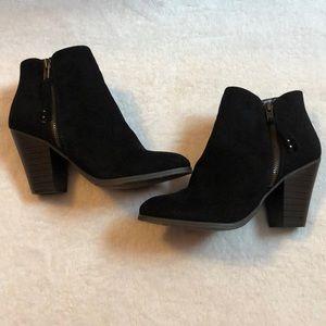 Charlotte Russe black heeled booties